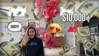 I SURPRISED MY GIRLFRIEND W/ $10,000 IN GIFTS FOR VALENTINES DAY!!  **EMOTIONAL**