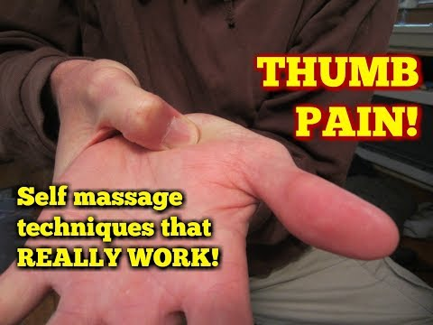 Video Thumb Pain Treatment!  Massage Exercises for Relief!