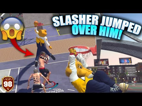 Pure Slasher Mascot Jumped OVER Defender! Best Contact Dunk! NBA 2K19 Park Gameplay