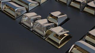 Keyboard Metal, Glass Клавиатура Металл, Стекло 3Ds Max Tutorial