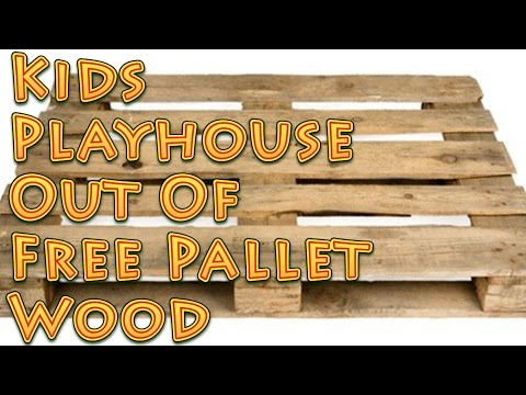 Kids Playhouse Out Of Free Pallet Wood