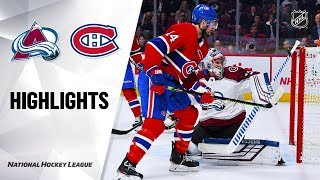 NHL Highlights | Avalanche @ Canadiens 12/5/19