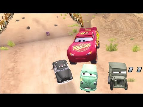Disney Pixar Lightning McQueen Cars Movie Game 13 - Sarges Off Road Challenge