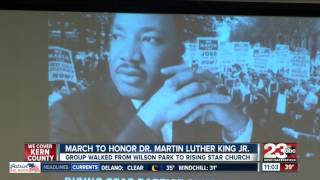 March to honor Dr Martin Luther King Jr