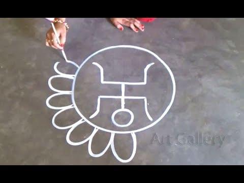 alpana designs lajja gauri swastika symbol by art gallery