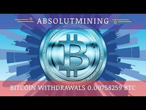 AbsolutMining (absolutmining.com) отзывы 2019, обзор, Live Withdraw 0.000853 BTC, free 100 GHs bonus