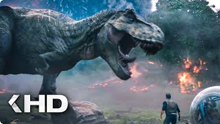 Running from the Volcano Explosion Scene - Jurassic World 2 (2018)