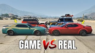 GTA 5 ONLINE   GTA 5 CARS VS REAL LIFE CARS (WHICH IS FASTEST?) (CASINO DLC CARS VS REAL LIFE CARS)