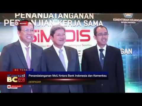 [REDAKSI] Penandatangan Perjanjian Kerjasama Antara Bank Indonesia dan Kementerian Keuangan