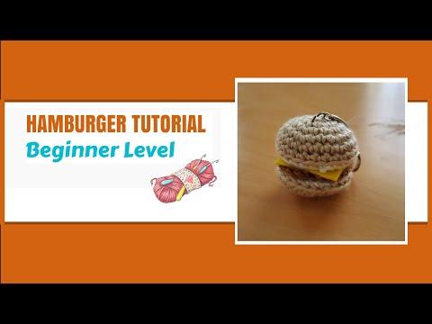Ravelry: Mini Cheeseburger Cat Toy pattern by Melissa's Crochet Patterns | 360x480