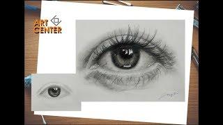 Drawing Eyes - White Ink Art Center