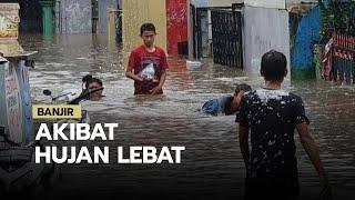 Banjir di Wilayah Kuningan akibat Hujan Lebat