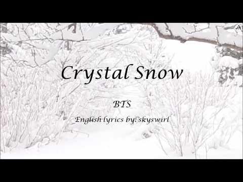 Crystal Snow - English KARAOKE (Piano Instrumental) - BTS