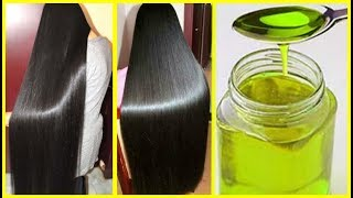 Homemade Oil To Stop Hair Fall & Hair Loss - Grow Extremely Long Hair & Thicker Hair