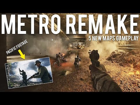Metro Remake + 5 New Maps Gameplay Pacific Battlefield 5