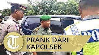 VIDEO: Detik-detik Danramil Satria Dirazia Polantas, Ternyata Prank dari Kapolsek