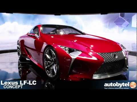 Lexus LF-LC Supercar Concept at the 2012 Detroit Auto Show Video