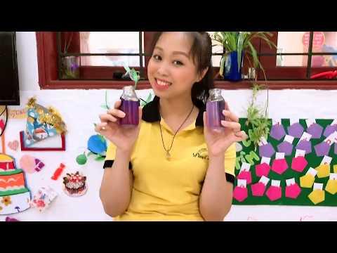 Thí nghiệm chanh và nước hoa đậu biếc