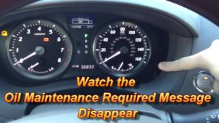 How to Reset Oil Maintenance Required Light Lexus ES350