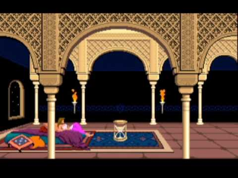 Prince of Persia (1989, PC) - complete game walkthrough, ALL mega potions!