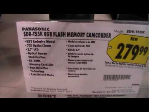 Panasonic SDR-T55 camcorder test