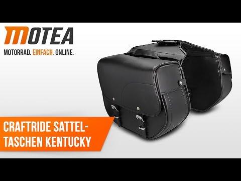 Craftride Custom Motorrad Satteltasche Kentucky   Anbauvideo