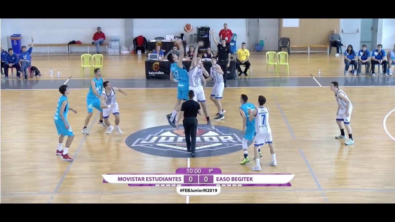 U18M - MOVISTAR ESTUDIANTES vs EASO SAN SEBASTIÁN - Cpto. España. Zaragoza 2019 (BasketCantera.TV)
