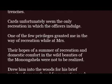 mp4 Recreation In A Sentence, download Recreation In A Sentence video klip Recreation In A Sentence