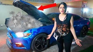 MY MUSTANG BLEW UP ...