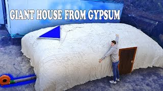 GIANT HOUSE FROM GYPSUM (PLASTER OF PARIS) - DIY