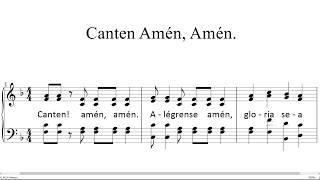 Canten Amén, Amén - Entrenamiento
