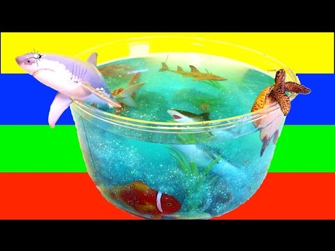 DIY SHARK Toys Slime Aquarium Fish Tank: Toy Sharks, Sea Animals, Toys and Slime   Craft Videos