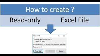 How to create Read-Only Excel file?