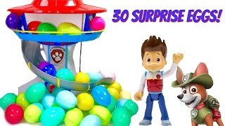 Help Find Paw Patrol Pups in 30 Surprise Eggs with Fizzy Fun Toys