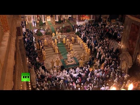 Merry Christmas! Orthodox Christmas Service in Moscow