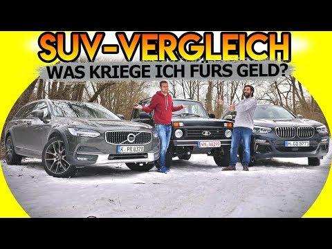 VOLVO V90 CC D5 vs. LADA NIVA BRONTO vs. BMW X4 M40i | Fahr doch