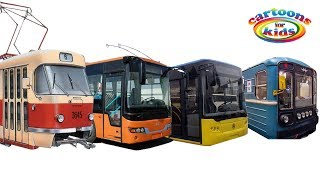 Городской транспорт и Поезда для детей развивающее видео. Игрушки вагон Метро и Железная дорога