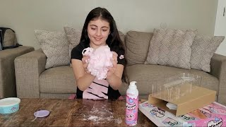 Fun time playing with whipped soap