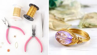 Make A Simple Wire Ring - DIY Jewelry Making Tutorial