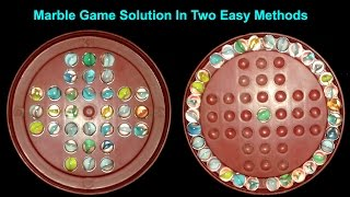 "Marble Solataire Game Easy Solution || Brainvita ""Marbles Game"" || Marble Game  Solution"