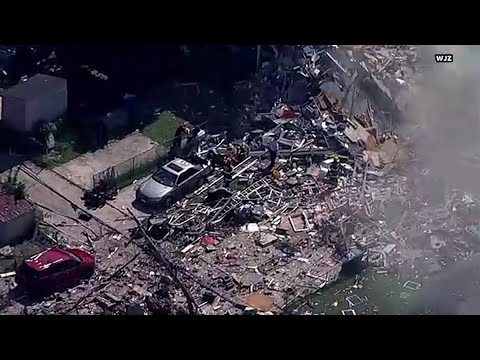 RAW: Aerial views of deadly Baltimore explosion