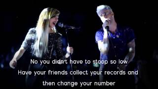 Christina Grimmie & Adam Levine - Somebody That I Used To Know (Lyrics)
