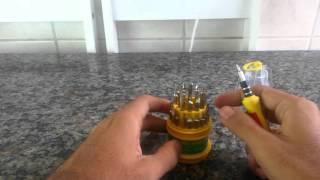 Compra #09 (Aliexpress): Chave de precisão (31 peças)