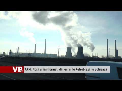 APM: Norii uriași formați din emisiile Petrobrazi nu poluează