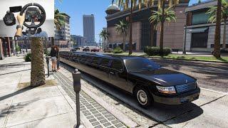 World's Longest Car | City Driving GTA 5 | Luxurious Limousine Taxi | LogitechG29 gameplay