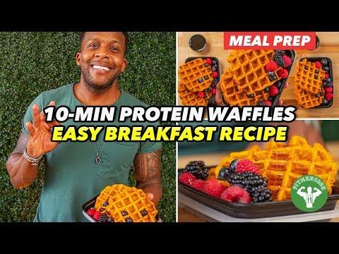 Breakfast Meal Prep – 10-Min Protein Pumpkin Waffles