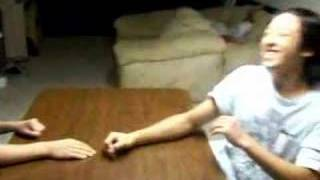 arm wrestle: vic and fubu