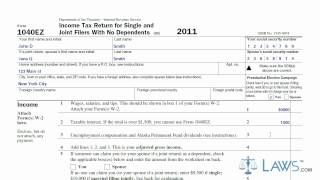 Learn How to Fill the Form 1040EZ Income Tax Return for Single and Joint Filers With No Dependents