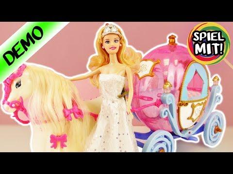BARBIE CINDERELLA PFERD + KUTSCHE | zauberhafte Prinzessin in magischem Kürbis