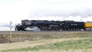 UP Big Boy #4014 And UP #844 Doubleheader Blasting Up Sherman Hill!